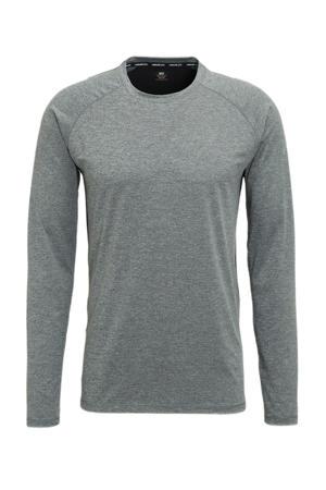 hardloopshirt Melko grijs/zwart