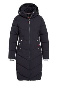 Luhta outdoor jas Ikkamo zwart, Donkerblauw