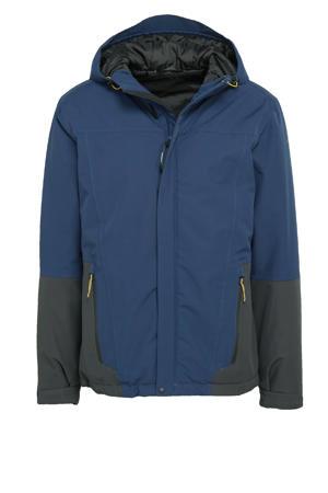 outdoor jas Blades donkerblauw/antraciet