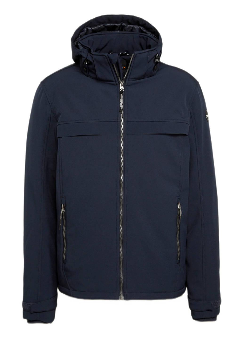 Icepeak  gewatteerde softshell jas Aub donkerblauw, Donkerblauw