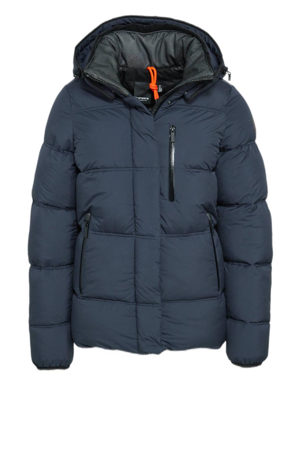 Icepeak outdoor jas Britton donkerblauw, Donkerblauw
