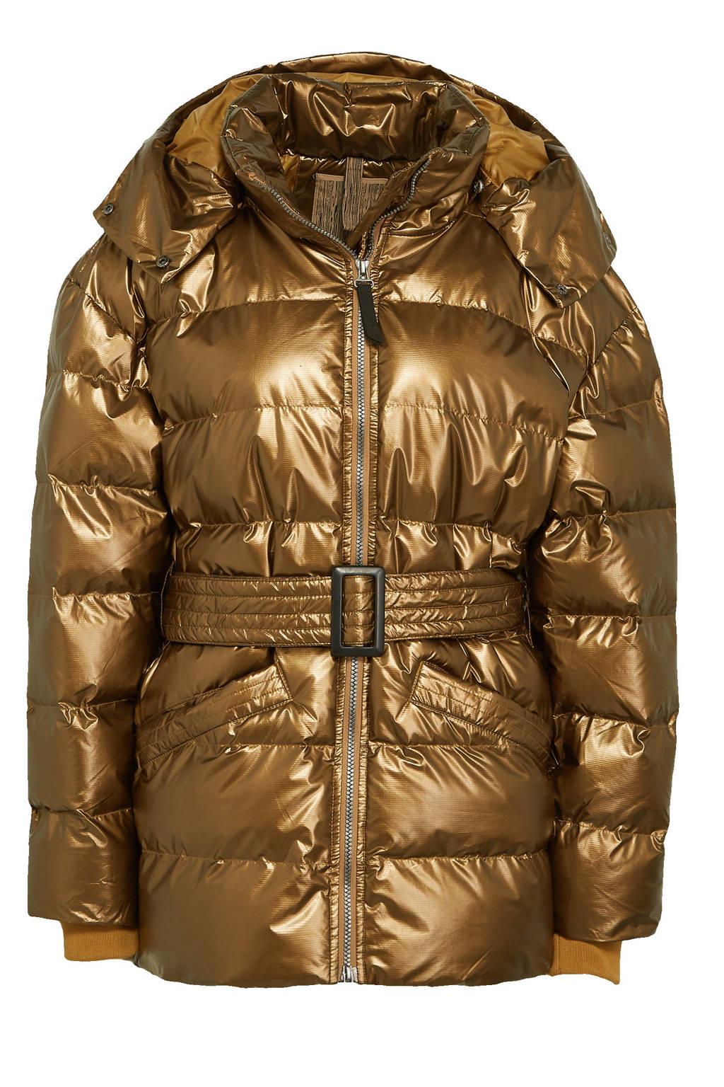 Icepeak gewatteerde jas Arley met ceintuur brons, Brons