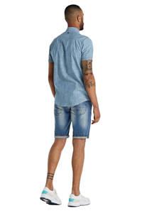 Garcia regular fit jeans short Russo light used, Light blue used denim