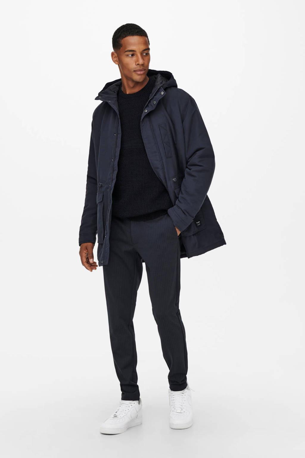 ONLY & SONS parka winterjas ONSJACK donkerblauw, Donkerblauw