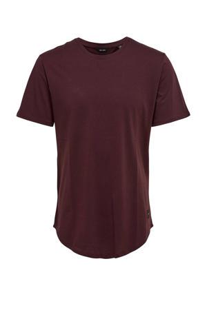 T-shirt ONSMATT LIFE LONGY fudge