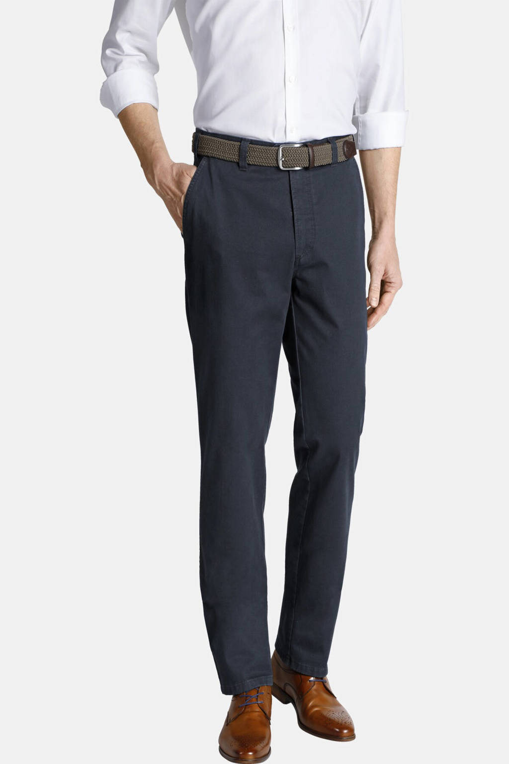 Charles Colby broek AURELIUS Plus Size donkerblauw, Donkerblauw