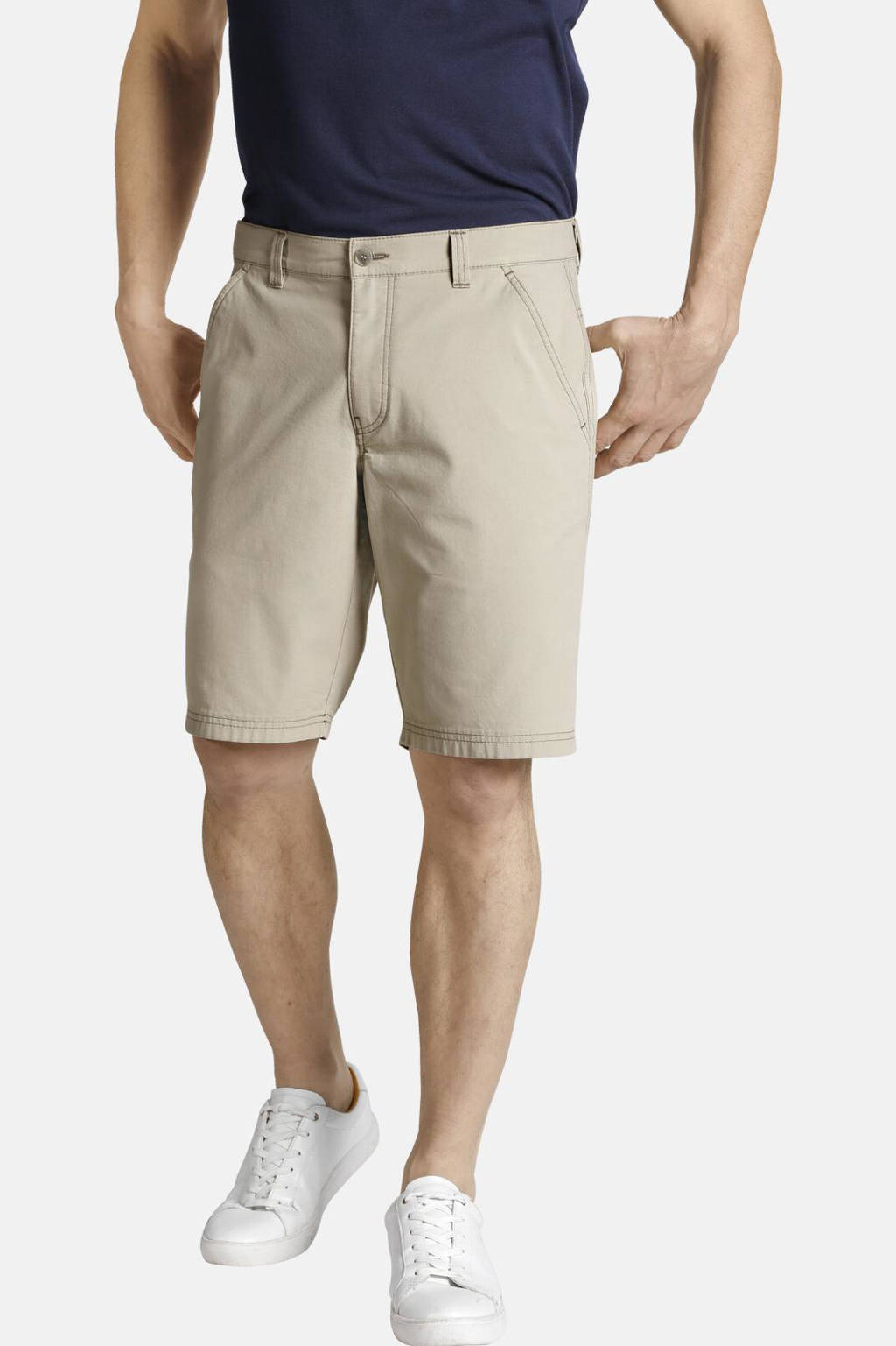 Charles Colby regular fit chino short CLAUDAS Plus Size beige, Beige
