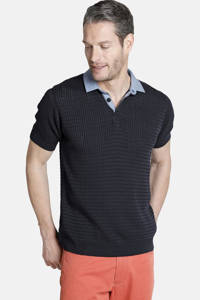 Charles Colby polo T-shirt RUSSEL Plus Size donkerblauw, Donkerblauw