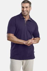 Charles Colby polo T-shirt ALON Plus Size blauw, Blauw