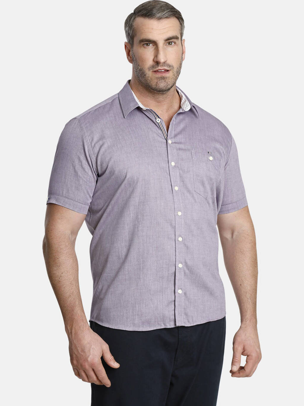 Charles Colby overhemd YVEN Plus Size donkerblauw, Donkerblauw