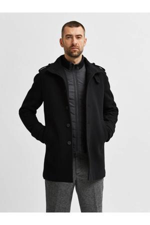 jas SLHNOAH met wol zwart