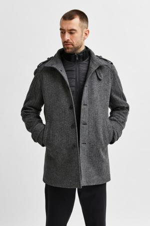 jas SLHNOAH met wol grijs