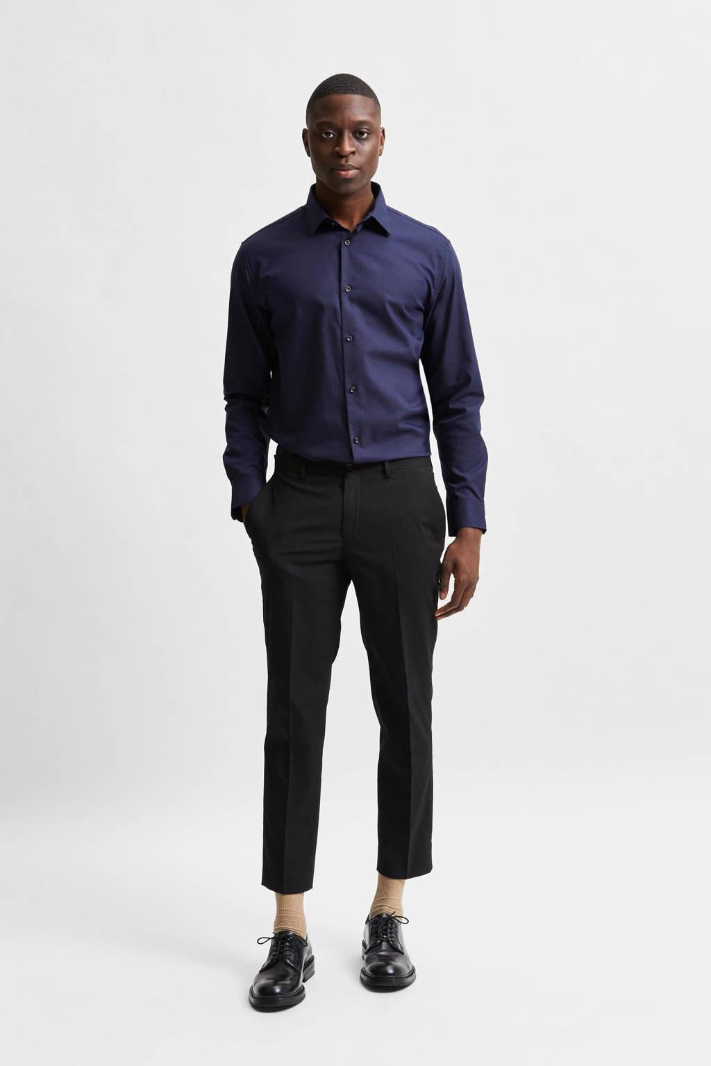 SELECTED HOMME slim fit overhemd SLHETHAN peacoat, Peacoat