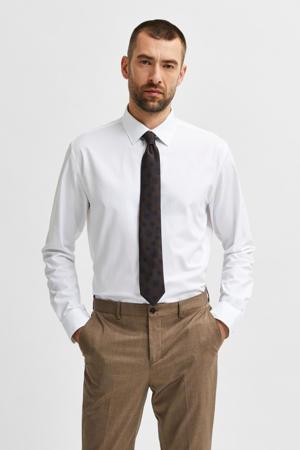 slim fit overhemd SLHETHAN wit