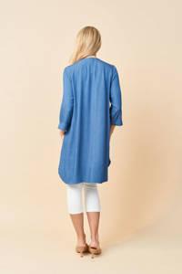 PONT NEUF jurk met stippen lichtblauw/wit, Lichtblauw/wit