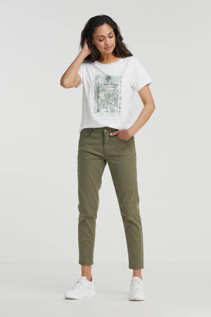 slim fit broek groen