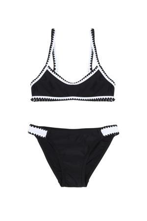 crop bikini zwart/wit