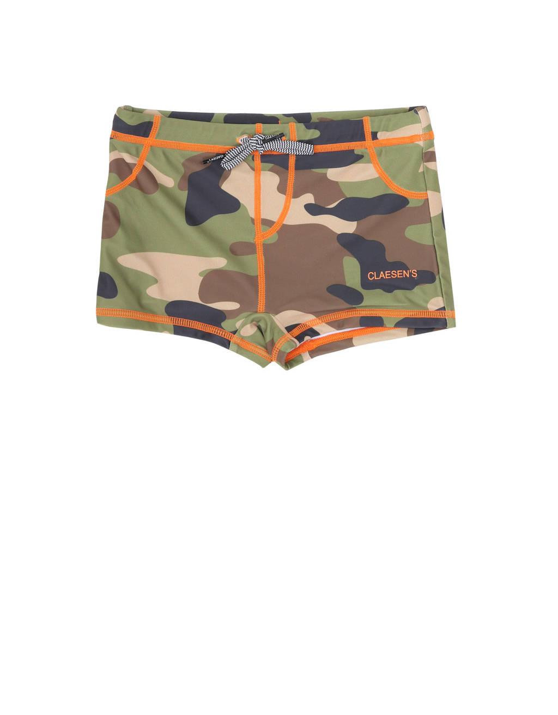 Claesen's zwemboxer met camouflageprint groen/bruin/beige, Groen/bruin/beige