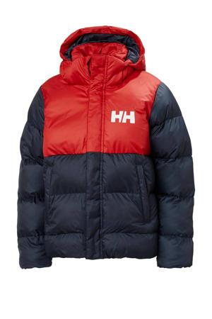 kids gewatteerde jas Vision donkerblauw/rood