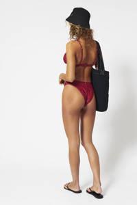 America Today gebloemde triangel bikinitop Audrey rood/donkerrood, Rood/donkerrood