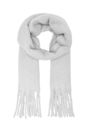 sjaal ONLJULIE grijs melange