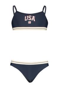 America Today bikini Lola met printopdruk donkerblauw, Donkerblauw