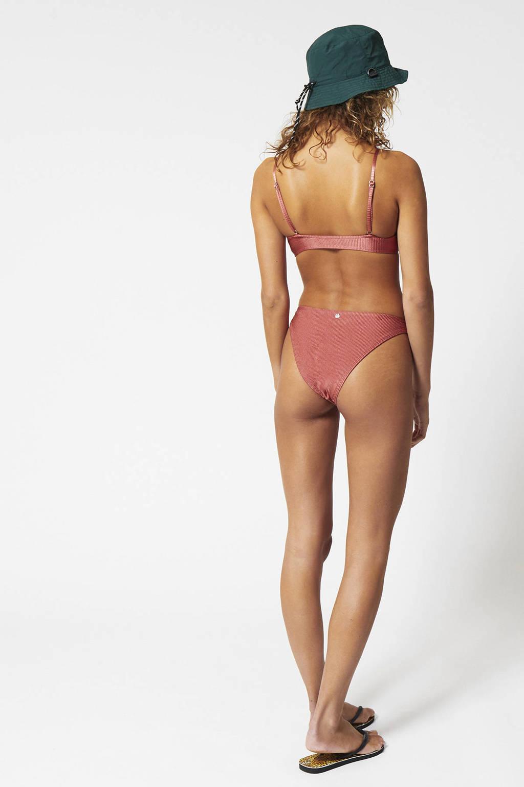 bikinitop Apua met ribstructuur roze, Roze