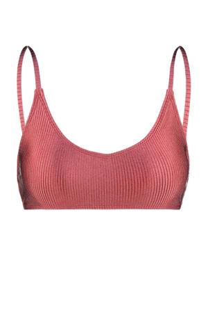 bikinitop Apua met ribstructuur roze