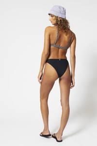 America Today high leg brazilian bikinibroekje Apua met ribstructuur zwart, Zwart