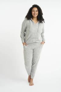 MS Mode gemêleerde hoodie grijsgroen, Grijsgroen