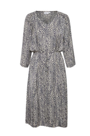 jurk Fianna met zebraprint blauw