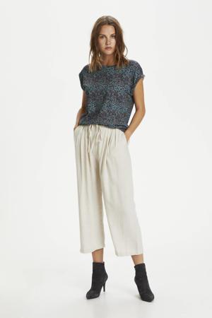 gebloemd T-shirt Fadelia donkerblauw