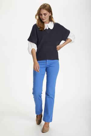 gebreide trui Caia met textuur donkerblauw