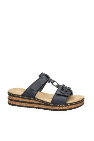 slippers donkerblauw