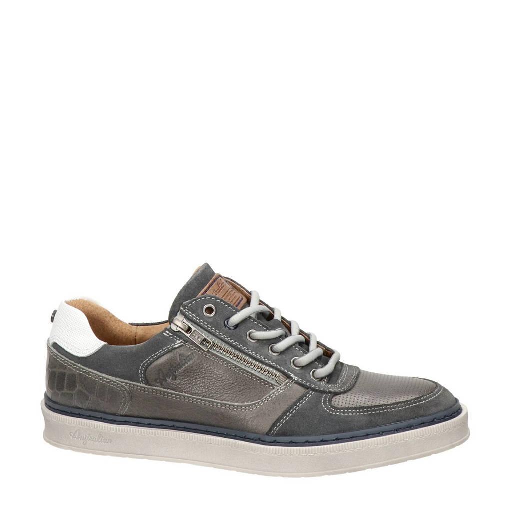 Australian Winchester  leren sneakers grijs, Grijs