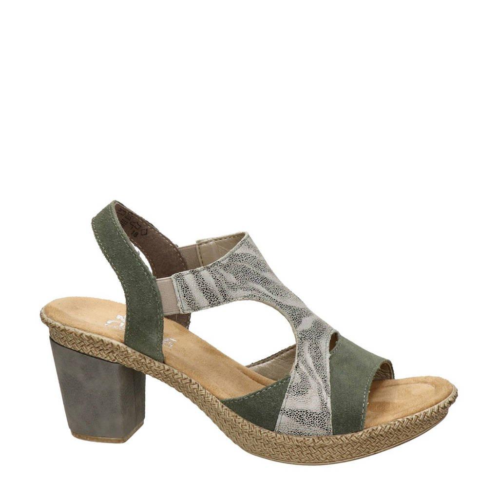 Rieker   sandalettes groen, Groen