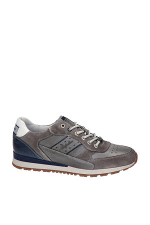 Rosetti  leren sneakers grijs