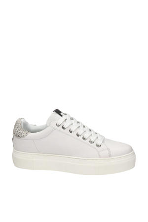 Ted  leren plateau sneakers wit