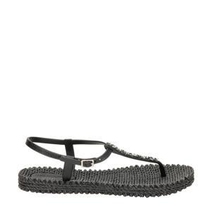 Cheerful 10G  sandalen met sierstenen zwart