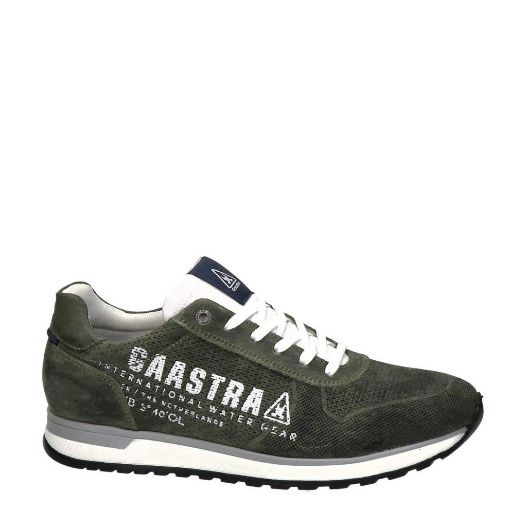 Gaastra Kai  nubuck sneakers donkergroen, Donkergroen
