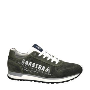 Kai  nubuck sneakers donkergroen