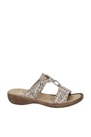slippers beige/multi
