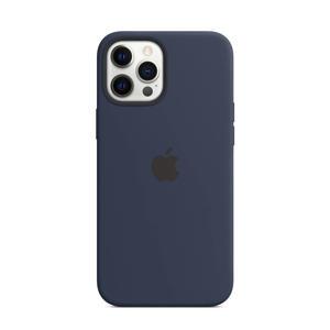 iPhone 12 Pro Ma siliconen telefoonhoes (Donkerblauw)