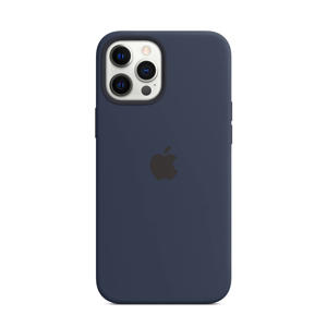 siliconen telefoonhoes iPhone 12 Pro Max (Donkerblauw)