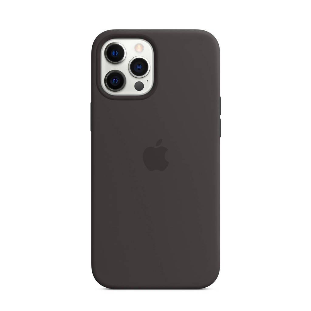 Apple iPhone 12 Pro Ma siliconen telefoonhoesje Max (Zwart)