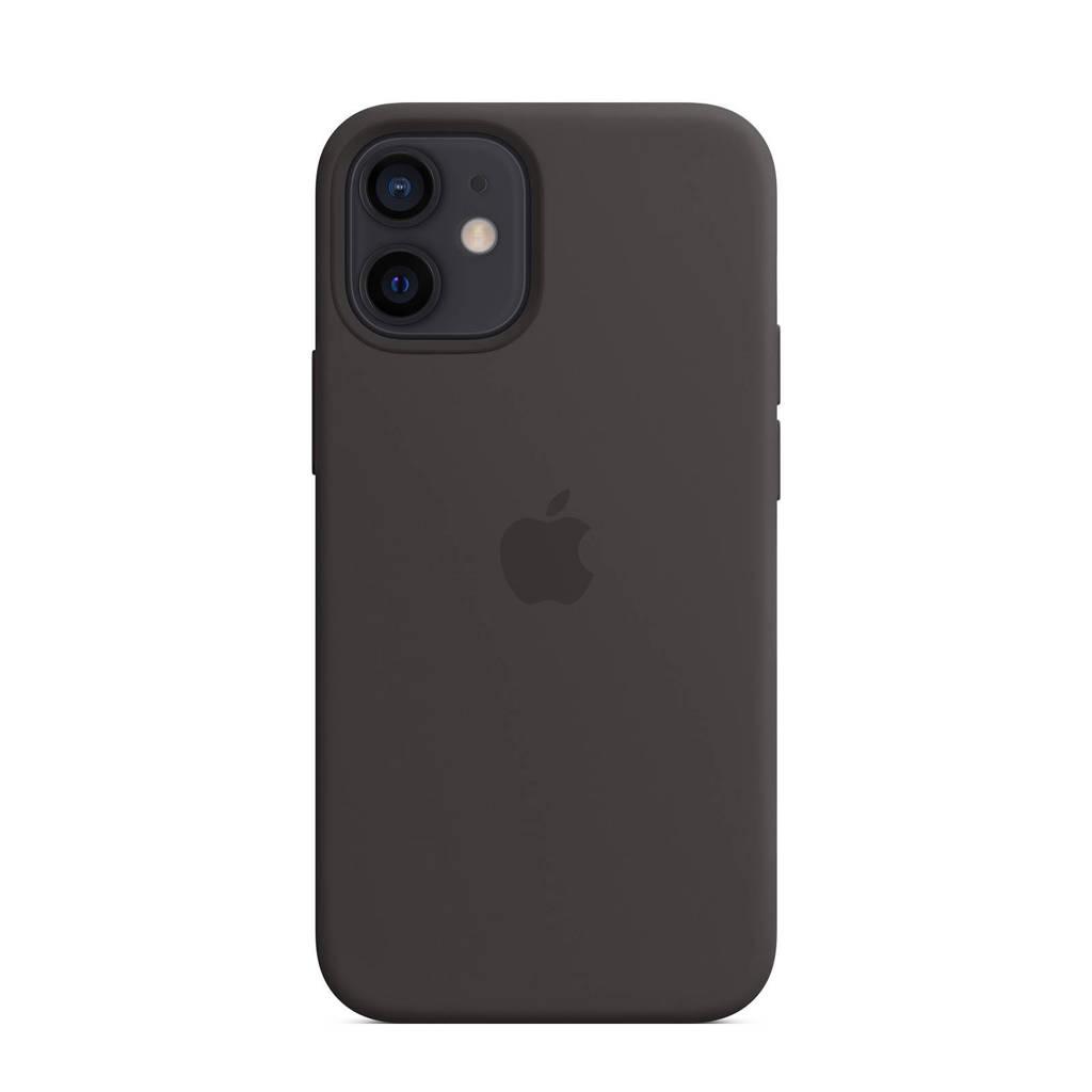Apple iPhone 12 mini S siliconen telefoonhoes (Zwart)