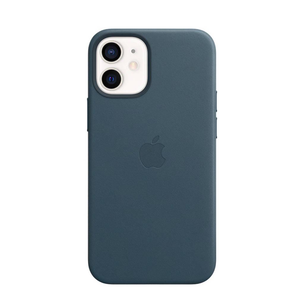 Apple iPhone 12 mini L leren telefoonhoes, Blauw