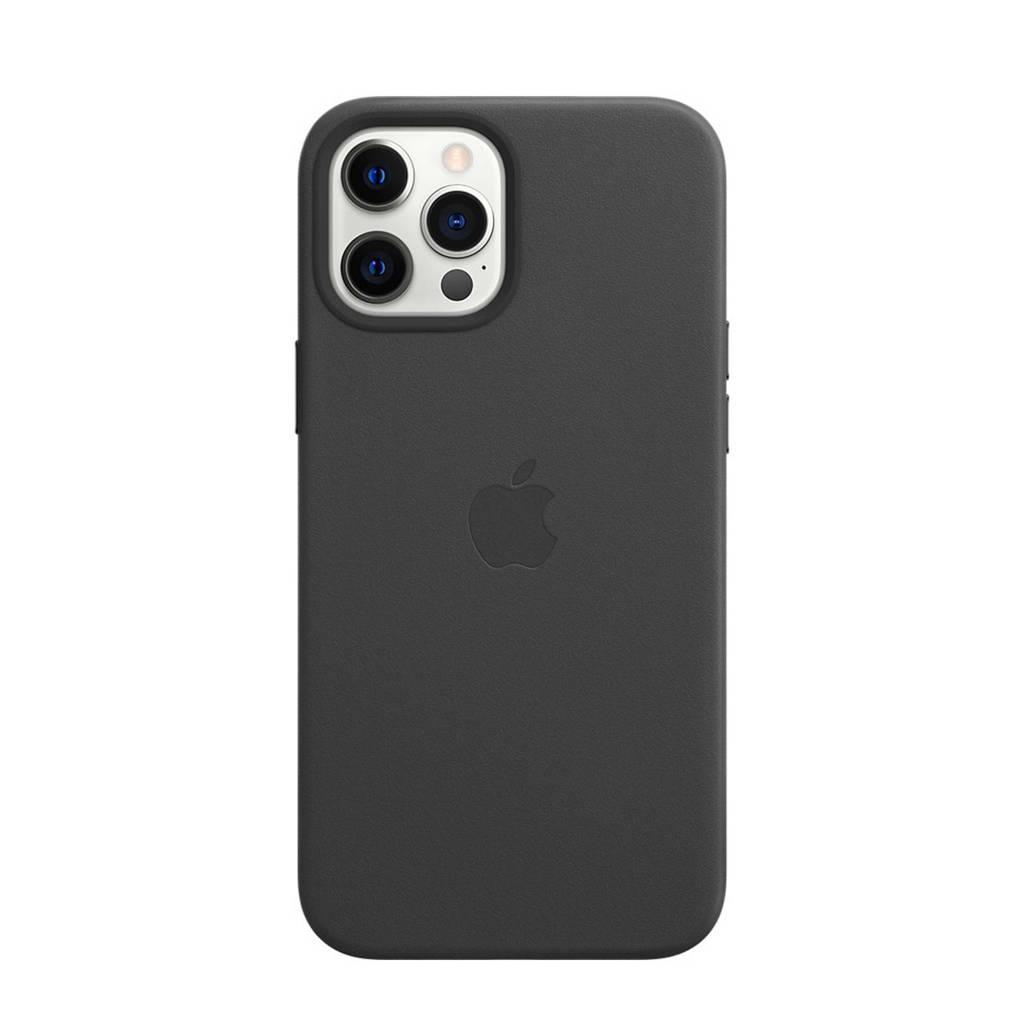 Apple iPhone 12 Pro Ma leren telefoonhoesje iPhone 12 Pro Max (Zwart)