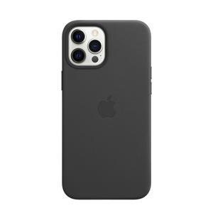 leren telefoonhoesje iPhone 12 Pro Max (Zwart)
