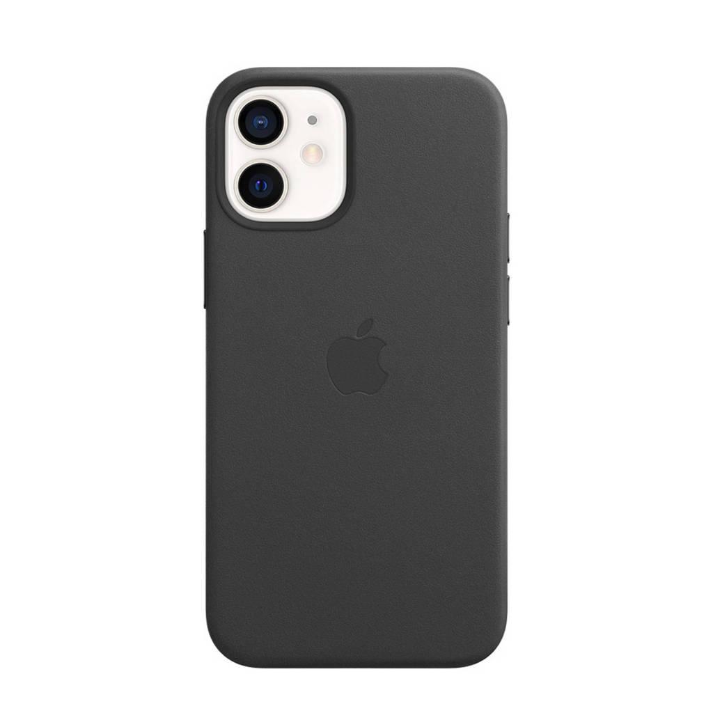 Apple iPhone 12 mini L leren telefoonhoes iPhone 12 Mini (Zwart)